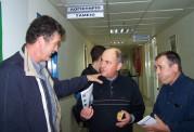 2010/10/20: Ο Κ. Κούστας κατά την περιοδεία στο νοσοκομείο Μεσολογγίου.