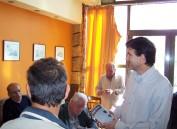 2010/10/24: Ο υποψήφιος αντιπεριφερειάρχης Ηλείας Δ. Μπαξεβανάκης σε καφενείο του Πύργου.