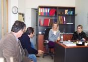 2010/10/29: Στιγμιότυπο από τη συνάντηση με εργαζόμενους στο «Βοήθεια στο Σπίτι», στο Αγρίνιο.
