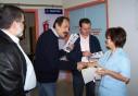 2010/11/03: Γ. Λύχρος, Β. Χατζηλάμπρου και ο υποψήφιος Γρ. Ευαγγελάτος κατά την περιοδεία στο Καραμανδάνειο.