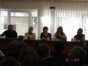 Από αριστερά, Β. Χατζηλάμπρου, Τ. Μυταφίδης, Δ. Σπανούδη, Γ. Θεοδωρόπουλος