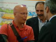 2012/10/21: Με τον βουλευτη Αργολιδας Δ. Κοδελα κατα την αφιξη στο αεροδρομιο της ελληνικης ομαδας του Estelle