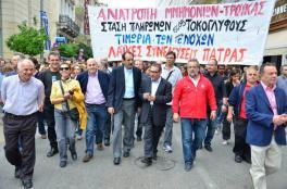 2012/10/28: Απο τη μαζικη πορεια που ακολουθησε την παρελαση της 28ης Οκτωβριου στην Πατρα