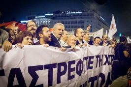 2012/11/07: Οι βουλευτες του ΣΥΡΙΖΑ-ΕΚΜ στη διαδηλωση εναντια στην ψηφιση του Μνημονιου ΙΙΙ