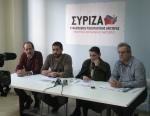 2013/02/01:Στιγμιοτυπο από τη συνεντευξη Τυπου για την υγεια. Απο αριστερα: Β. Χατζηλαμπρου, Αντ. Ντασσιος, Μ. Κανελλοπουλου, Τ. Γεωργακοπουλος
