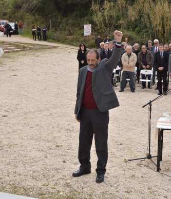 2013/03/10: Απο την εκδηλωση μνημης για τους εκτελεσμενους αγωνιστες της Αντιστασης στο Γηροκομειο Πατρων