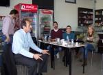 2013/03/24: Οι βουλευτες Αχαϊας του ΣΥΡΙΖΑ-ΕΚΜ στη συνελευση στο καφενειο της Ροδιας