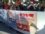 2013/03/26: Δεκαδες χιλιαδες διαδηλωτες συμμετειχαν στην εναρκτηρια πορεια του Παγκοσμιου Κοινωνικου Φορουμ στην Τυνησια