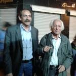 2013/03/27: Ο Β. Χατζηλαμπρου με τον Σαμιρ Αμιν στο περιθωριο των εργασιων του Παγκοσμιου Κοινωνικου Φορουμ στην Τυνησια