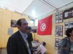 2013/03/27: Ο Β. Χατζηλαμπρου στην πανεπιστημιουπολη της Τυνιδας οπου λαμβανουν χωρα οι εργασιες του Παγκοσμιου Κοινωνικου Φορουμ