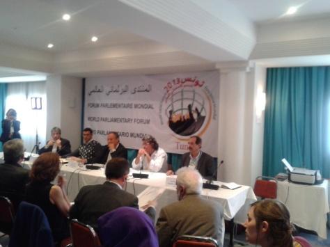 2013-03-28: Ο Β. Χατζηλαμπρου στη συνεδριαση του Παγκοσμιου Κοινοβουλευτικου Φορουμ