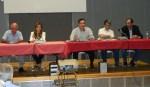 """2013/05/17: Παρουσιαση του βιβλιου """"Η Πατρα στην Κατοχη και την Αντισταση"""". Απο αριστερα: Γ. Μοσχος, Β. Λαζου, Δ. Χωριτος, Π. Κυπριανος και Β. Χατζηλαμπρου"""