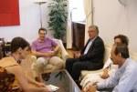 2013/06/21: Απο τη συναντηση στη Βουλη μεταξυ του επικεφαλης του Λαϊκου Μετωπου Τυνησιας Χ. Χαμαμι με τον προεδρο της ΚΟ του ΣΥΡΙΖΑ-ΕΚΜ Αλ. Τσιπρα