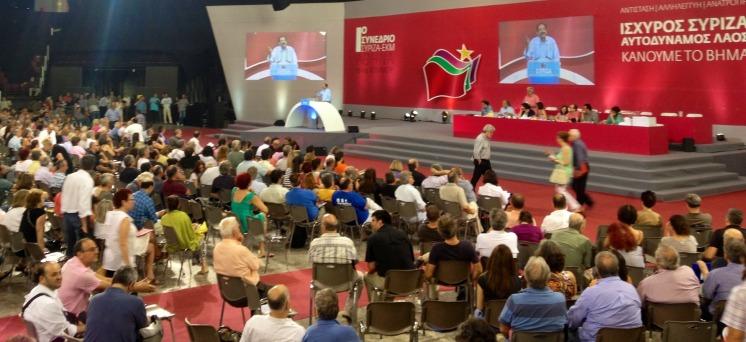 2013/07/12: Ο Β. Χατζηλαμπρου μιλα κατα τις εργασιες του Ιδρυτικου Συνεδριου του ΣΥΡΙΖΑ