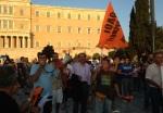 2013/07/17: Ο Β. Χατζηλαμπρου με τους εκπαιδευτικους της Α' ΕΛΜΕ Αχαϊας στην κινητοποιηση στο Συνταγμα εναντια στις απολυσεις
