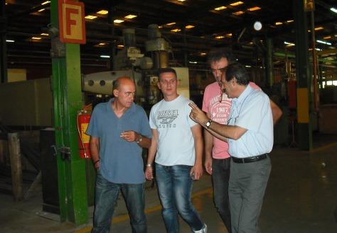 2013/09/06: Απο την επισκεψη στο τμημα παραγωσης της ΕΛΒΟ στη Θεσσαλονικη