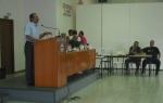 2013/09/06: Ο Β. Χατζηλαμπρου μιλα στους εργαζομενους της ΕΛΒΟ στη Θεσσαλονικη