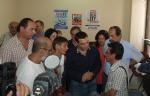 2013/09/07: Απο τη συναντηση του κλιμακιου του ΣΥΡΙΖΑ, με επικεφαλης τον Αλ. Τσιπρα, με τον υπουργο Πολιτισμων της Βολιβιας Pablo Cesar Groux Canedo (πρωτος απο δεξια)