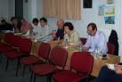 2013/10/19: Οι βουλευτες (απο αριστερα) Δ. Κοδελας, Εφ. Γεωργοπουλου, Β. Χατζηλαμπρου στην εκδηλωση του ΣΥΡΙΖΑ για τη γεωργια και τους εργατες γης στη Βαρδα