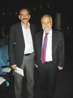 2013/11/01: Με τον προεδρο του Πανηπειρωτικου Συλλογου Πατρων Κ. Τσιρη στην επετειακη εκδηλωση για τα 100 χρονια απο την απελευθερωση των Ιωαννινων