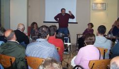 2013/11/04: Απο την αντιφασιστικη εκδηλωση που πραγματοποιησε η Οργανωση Μελων ΣυΡιζΑ Νοτιου Διαμερισματος