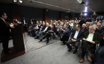 2014/02/12: Στιγμιοτυπο απο την παρουσιαση της προτασης του ΣΥΡΙΖΑ για τις Ενοπλες Δυναμεις