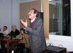 """2014/02/21: Ο Β. Χατζηλαμπρου στα εγκαινια του χωρου της εφημεριδας """"Δρομος της Αριστερας"""" στην Πατρα"""