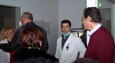 2014/03/10: Ο Β. Χατζηλαμπρου με τους συναδελφους του απο το ακτινολογικο τμημα του νοσοκομειου Αγρινιου