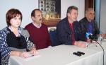 2014/03/10: Ο Β. Χατζηλαμπρου με τους βουλευτες Μ. Τριανταφυλλου και Γ. Βαρεμενο και τον συντονιστη της ΝΕ Θ. Γαλατα στη συνεντευξη Τυπου στο Αγρινιο