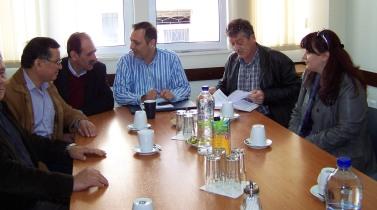 2014/03/29: Απο τη συναντηση με τη διοικηση του Εργατικου Κεντρου Ναυπακτου