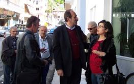 2014/03/29: Απο την περιοδεια του Β. Χατζηλαμπρου και του υποψηφιου αντιπεριφερειαρχη Αιτωλοακαρνανιας Κ. Κουστα στη Ναυπακτο