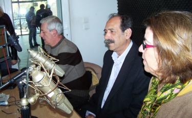 2014/04/01: Ο Β. Χατζηλαμπρου κατα τη ραδιοφωνικη συνεντευξη στο στουντιο της ΕΡΑ Πυργου