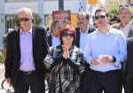2014/04/14: Με τον Αλ. Τσιπρα, τους βουλευτες Αιτωλοακαρνανιας Γ. Βαρεμενο και Μ. Τριανταφυλλου και τον υποψηφιο αντιπεριφερειαρχη του νομου Κ. Κουστα κατα την περιοδεια στο Μεσολογγι