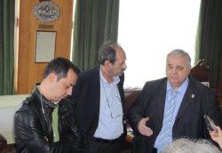 2014/04/30: Απο αριστερα: Κ. Γαβριηλιδης, Β. Χατζηλαμπρου και ο πρυτανης του Πανεπιστημιου Πατρων Γ. Παναγιωτακης