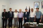 2014/07/22: Στιγμιοτυπο απο τη συναντηση αντιπροσωπειας της Ομαδας Φιλιας Ελλαδας - Παλαιστινης της Βουλης με τον πρεσβη της Παλαιστινης