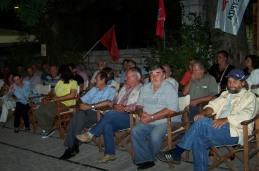 2014/08/30: Στιγμιοτυπο απο την εκδηλωση του ΣΥΡΙΖΑ Καλαβρυτων με κεντρικο ομιλητη τον Π. Λαφαζανη