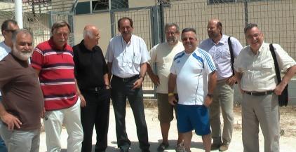 2014/08/21: Στιγμιοτυπο απο τη συναντηση στο γηπεδο των Προσφυγικων με τον παλαιμαχο ποδοσφαιριστη Τακη Λουκανιδη