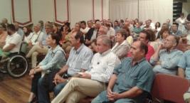 2014/09/26: Στιγμιοτυπο απο την εκδηλωση για το προγραμμα του ΣΥΡΙΖΑ στο Αιγιο