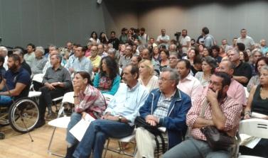 2014/10/02: Στιγμιοτυπο απο την εκδηλωση για το προγραμμα του ΣΥΡΙΖΑ στην Πατρα