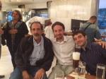 2014/10/05: Ο Β. Χατζηλαμπρου με τον Ισπανο ευρωβουλευτη των Podemos, Pablo Iglesias (κεντρο), πριν απο την εκδηλωση στο φεστιβαλ της Νεολαιας ΣΥΡΙΖΑ στην Αθηνα