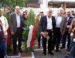 2014/11/17: Οι βουλευτες Αχαϊας του ΣΥΡΙΖΑ καταθετουν στεφανι στο Παραρτημα του Πανεπιστημιου Πατρων στην επετειο εξεγερσης του Νοεμβρη