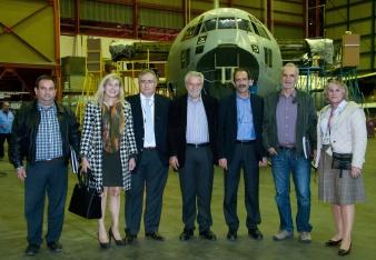 2014/11/20: Απο την επισκεψη του κλιμακιου του τομεα Αμυνας του ΣΥΡΙΖΑ στο εργοστασιο της Ελληνικης Αεροπορικης Βιομηχανιας (ΕΑΒ)