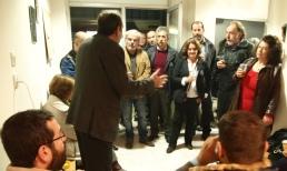 2014/11/22: Στιγμιοτυπο απο τα εγκαινια των γραφειων του ΣΥΡΙΖΑ Ανατολικης Αιγιαλειας στην Ακρατα