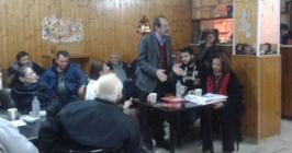 2014/12/19: Στιγμιοτυπο απο τη συγκεντρωση του ΣΥΡΙΖΑ Δυτικης Αχαϊας σε καφενειο στο Λιμνοχωρι