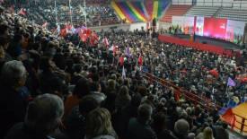 2015/01/21: Στιγμιοτυπο απο την κεντρικη προεκλογικη συγκεντρωση στην Πατρα με ομιλητη τον Αλεξη Τσιπρα