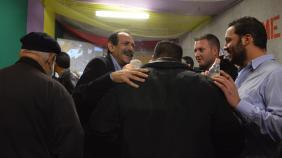 2015/01/25: Στιγμιοτυπο απο το εκλογικο κεντρο του ΣΥΡΙΖΑ στην Πατρα το βραδυ των εκλογων της 25ης Ιανουαριου