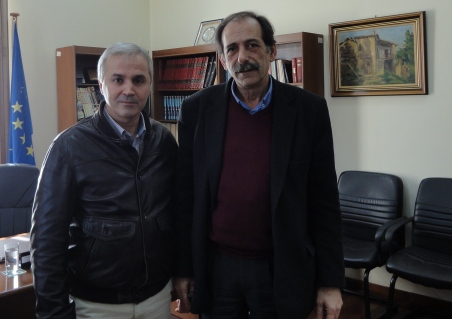 2015/02/21: Απο τη συναντηση του Β. Χατζηλαμπρου και του δημαρχου Αιγιαλειας Θ. Παναγοπουλου