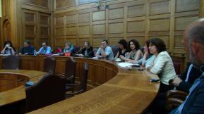 2015/06/03: Απο τη συσκεψη με ευρωβουλευτες της GUE/NGL (ευρωομαδα της Αριστερας) και βουλευτες του ΣΥΡΙΖΑ στη Βουλη