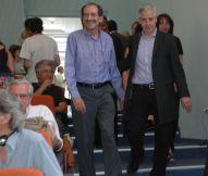 """2015/06/20: Με τον αντιπροεδρο της Βοβιλιας Αλβαρο Γκαρσια Λινερα στο σεμιναριο """"Η αριστερα του 21ου αιωνα"""" στο Γεωπονικο Πανεπιστημιο"""
