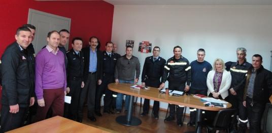 2015/01/19: Συναντηση με τον διοικητη της Πυροσβεστικης και στελεχη του Σωματος